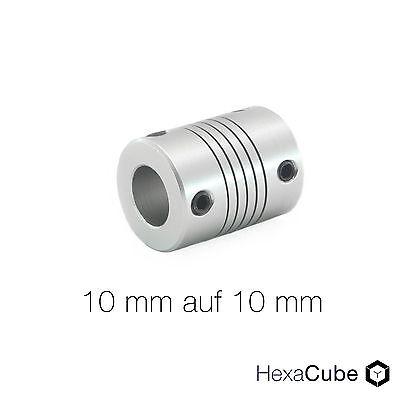 Wellenkupplung flexibel 10mm auf 10mm Aluminium NEMA23 RepRap 3D Drucker CNC