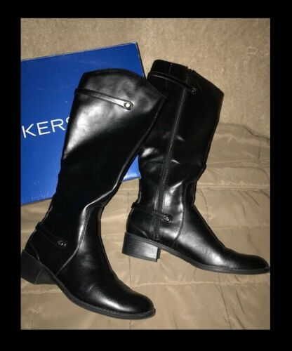 DOCKERS Tall Black Boots Women Size 9M Excellent C