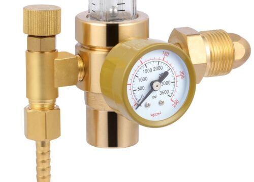 Argon Welding Regulator Gas Valve Copper MIGTIG Accessory CO2 Adaptor Flowmeter