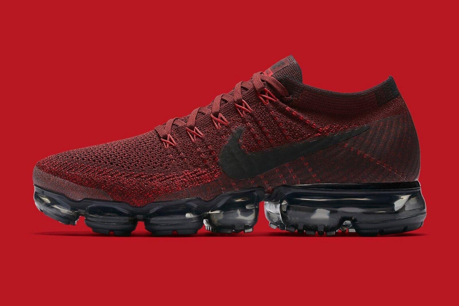 Nike vapormax flyknit profondo rosso di dimensioni 849558-601 air max 90 97 12 2017