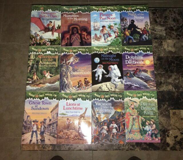 Mary Pope Osborne Magic Tree House Lot 12 Chapter Books 1 3 11 13 14 Series