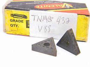 NEW-SURPLUS-3PCS-VALENITE-TNMG-432-GRADE-V88-CARBIDE-INSERTS