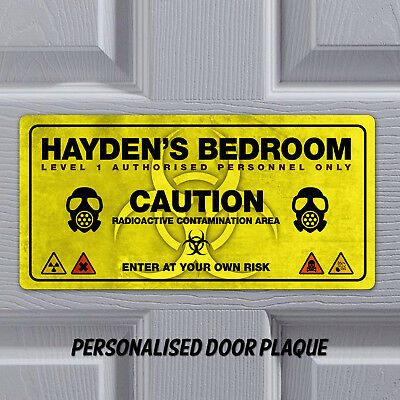 Personalised Name Plaque Door Bedroom Sign Gift Boys Room Funny Plaque Playroom Ebay