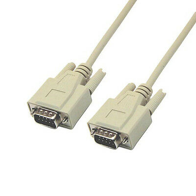 6 Ft RS232 D-Sub DB9 Male to Male Serial Data Modem Cable