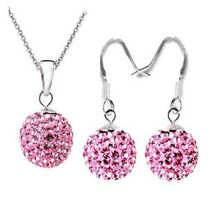 NEW-Gift-SILVER925-Jewellery-Set-Necklace-Earring-Set-birthday-Gift