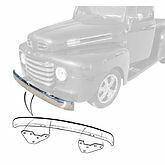 1948 1949 1950 1951 1952 Ford pickup  plain steel front bumper with brackets