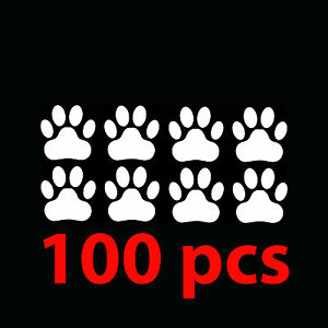 100-pk-LARGE-PAW-PRINT-Stickers-Wall-Decor-Vinyl-Decals-Animal-Pet-Kid-Room-Cute