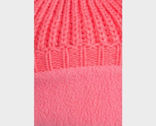 Baby Girls Fleece Lined Pom Pom Ears Knitted Winter Hat size 18-24 months Pink