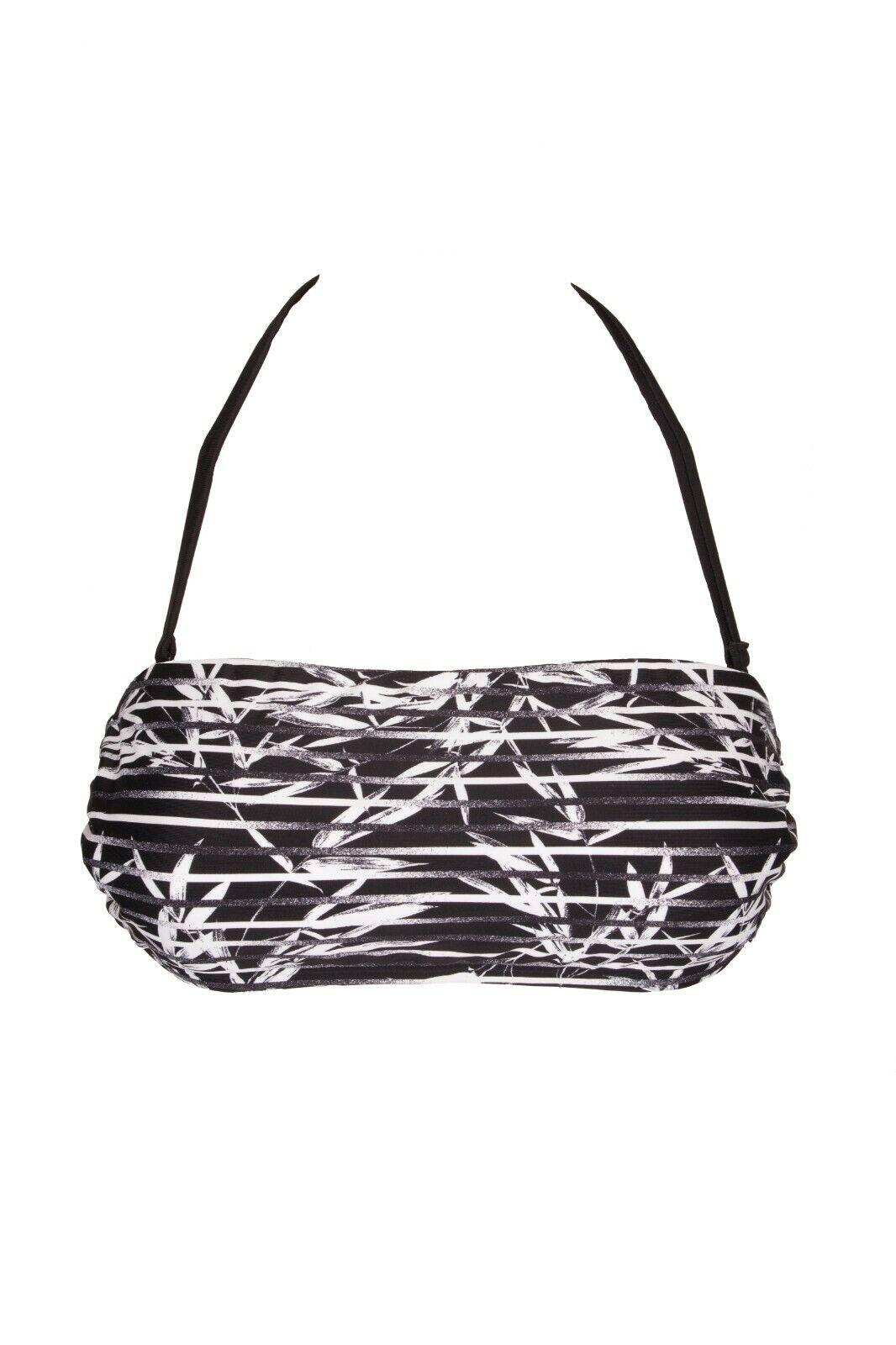 Ladies Bandeau Top Bikini Cup: C/D Black Venice Beach New Size 34 36 38 40
