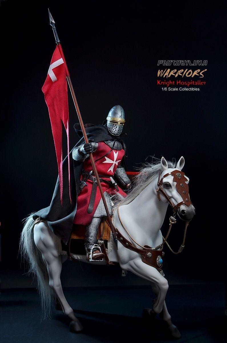 Cavaliere templare  1 6 crociato crusader guerriero crociate With Horse Cavtuttio  con il 100% di qualità e il 100% di servizio