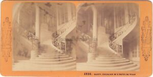 Nancy Hotel De Ville Francia Foto A.Blocco Stereo Vintage Albumina Ca 1870
