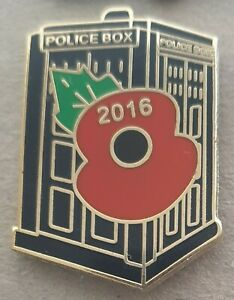 Old Police Box Dr Who Tardis 2016 Poppy Badge Free Postage Within Uk Ebay