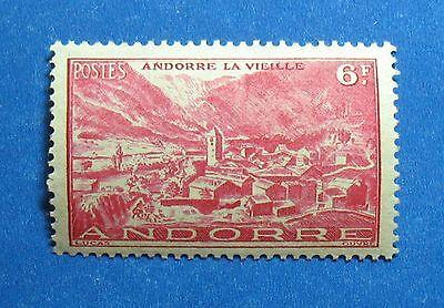 Europe Generous 1944 Andorra French 6 Fr Scott# 97 Michel # 120 Unused Nh Cs27913