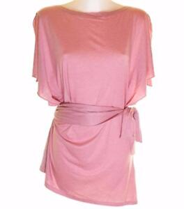 Bnwt-Womens-French-Connection-Stretch-Tunic-Dress-Top-Belt-RP-45-Pink-New-Fcuk