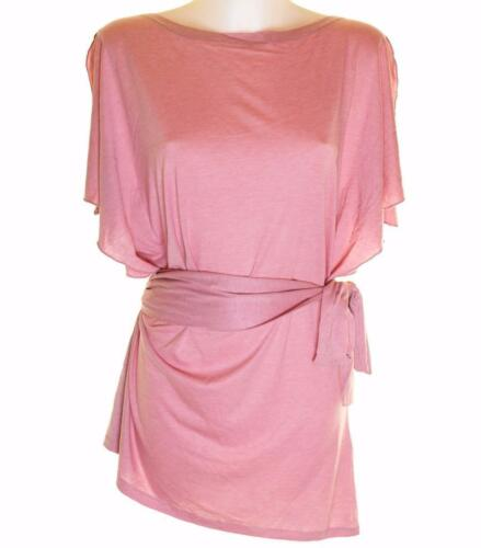 Belt RP£45 Pink New Fcuk Bnwt Womens French Connection Stretch Tunic Dress Top