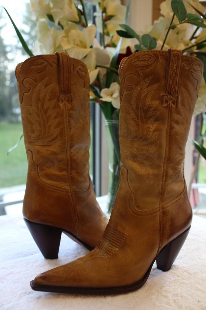 Charlie 1 Horse I4646 Womens 4565 tan slipon boots size 7.5B (1400