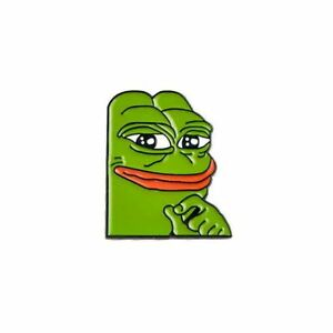 Smug-Pepe-The-Frog-Meme-Enamel-Lapel-Pin-Badge-Brooch-Gift-BNWT-NEW