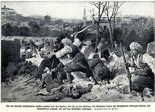 1915 Uesküb:Serben werden von Türken mit dem Handschar erschlagen* antique print