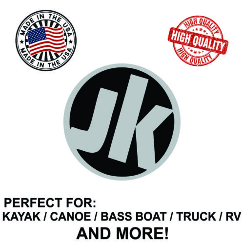 Jackson Kayak Round Decal Sticker For Kayak Canoe Truck Bass Boat RV and More!