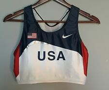 Nike USA Track & Field Team USA Olympics Sports Bra Run Top USATF Womans Large