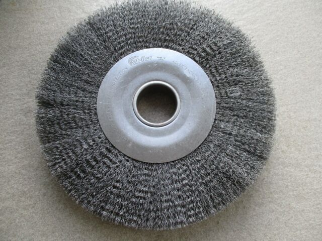 "WEILER 12/"" diameter x 2/"" CRIMPED CLEANING WIRE WHEEL STEEL BRUSH  #93427"