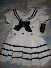 nwt CT Club nautical sailor dress & beret girl ~2T to3T free ship USA