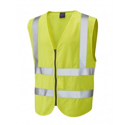 Leo Workwear Harracott Class 2 FR AS Yellow Waistcoat