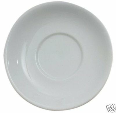 6 x Royal Genware Porcelain 16cm Saucers for 25cl or 34cl Cups Coffee Tea BR21