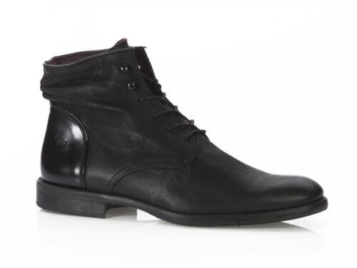 Bunker H-yon Black señores schnürr zapato semi zapato de cuero chic talla 40-46