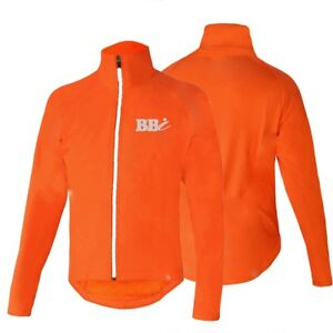 Hi-Viz-UniSex-Cylcing-Jogging-Running-Water-Proof-Rain-Cover-Walk-Full-Zip-Top