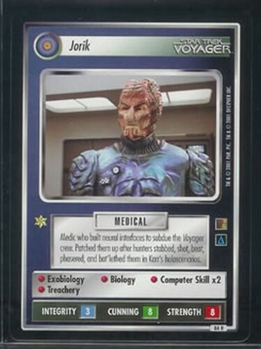 Star Trek CCG 1E The Borg RARE 84R Jorik