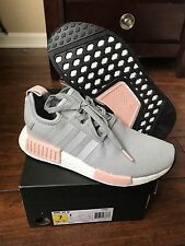 DS Adidas NMD R1 Women Runner Grey Vapour Pink Light Onix BY3059 Sz-7 W/Receipt