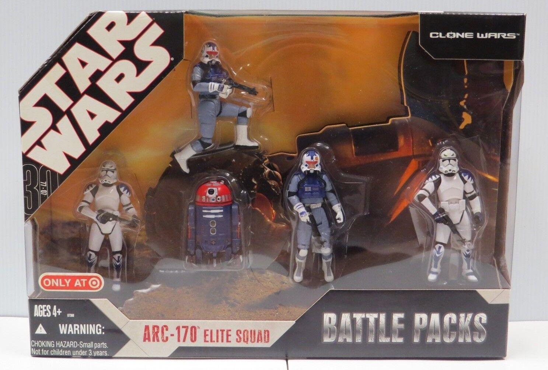 centro comercial de moda Estrella Wars 30TH Clone Wars Wars Wars Paquetes de batalla ARC-170 Elite Squad Sellado-TARGET  ¡envío gratis!