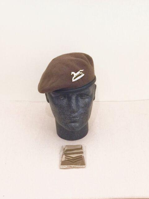 British Army-Issue PWO Yorkshire Regiment Beret, Badge & Desert Slides. 54cm.