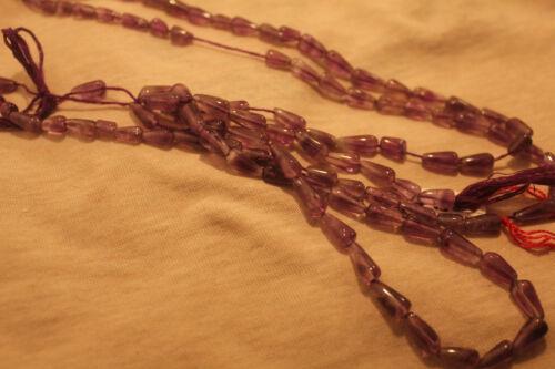 Amethyst Strang  Briolett 35,5cm 10mm x 5mm