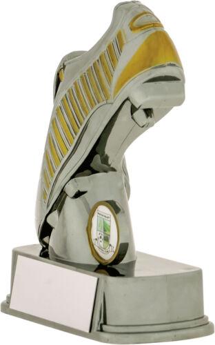 Gunmetal et or Football Boot trophées Awards 3 Tailles Gravure Gratuite