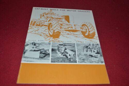 Caterpillar Tools For Motor Grader For 1965 Dealer/'s Brochure DCPA6
