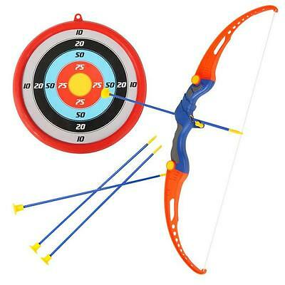 Children Kid Archery Role Play 3 Arrows &  Target & Luxury Safe Bow Set Kit E