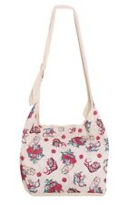 Disney Alice In Wonderland Cheshire Cat White Rabbit Tattoo Hobo Bag Tote NWT!