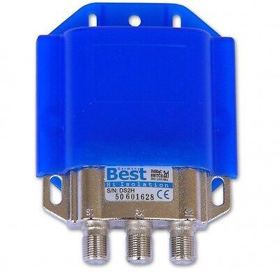 DiSEqC-Schalter 2/1 BEST Germany Wetterschutz SAT Umschalter Switch LNB Full HD
