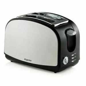Elgento 2 Slice Reheat Defrost Variable Browning Control Stainless Steel Toaster