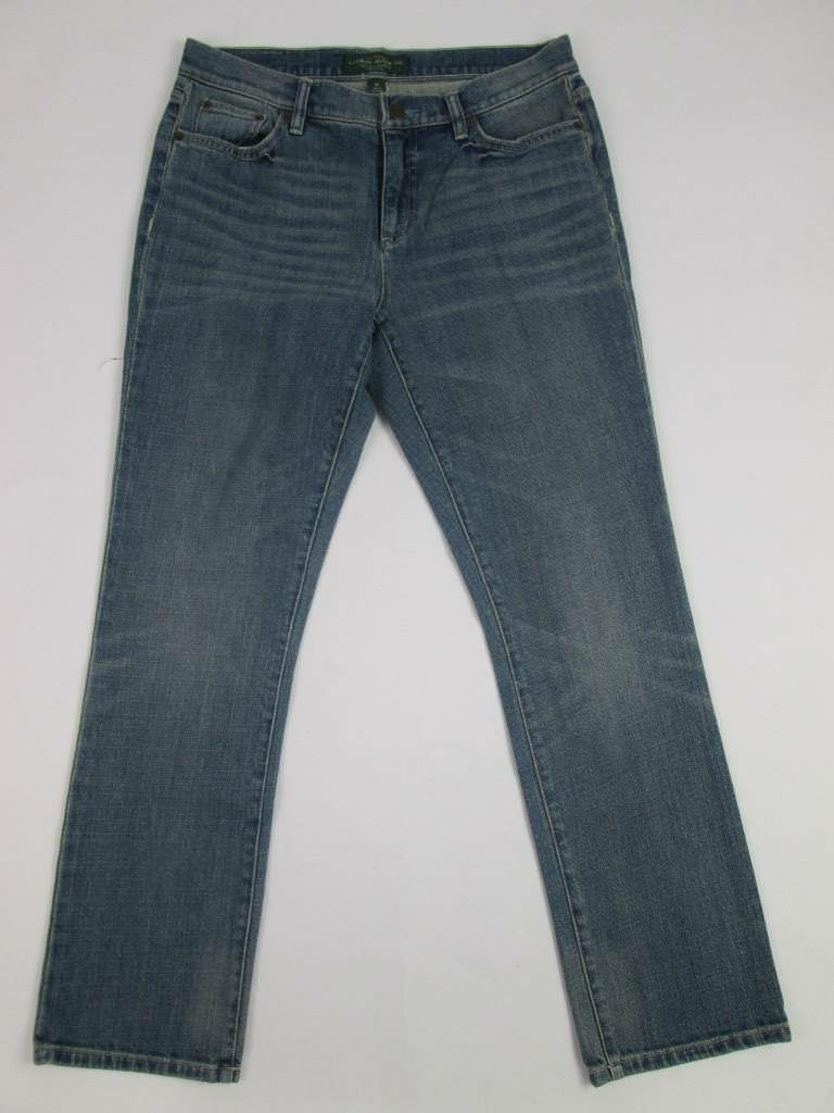 POLO RALPH LAUREN LRL WOMENS STRAIGHT PETITE blueE DENIM PANTS JEANS 8P NWT