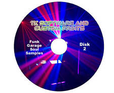 4,600 Funk, Soul, Garage Music Samples 2x DVD's Vol.80