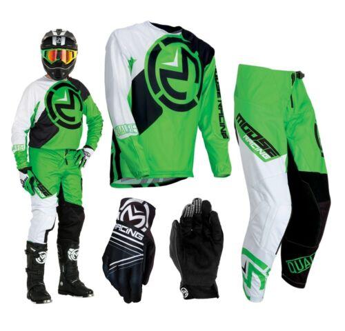 MOOSE creazione qualificatori Combo s19 VERDE BIANCO crosshose MX Jersey Motocross Guanti