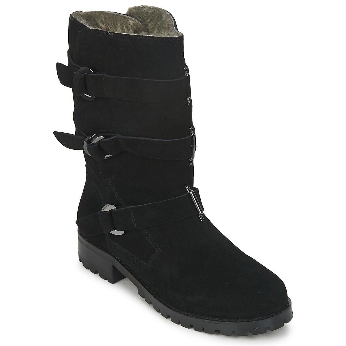 KG BLACK Stiefel /   / FUR LINED   UK 3 / 4   EU 36 / 37  NEW KURT GEIGER