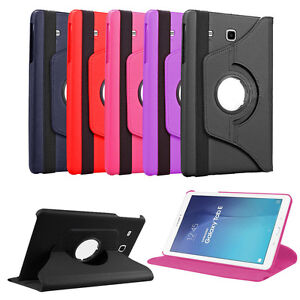 online store 5b2d7 a13fe Details about 360 Folio Leather Case Cover For Samsung Galaxy Tab E 9.6  SM-T560NU T560NZ T567