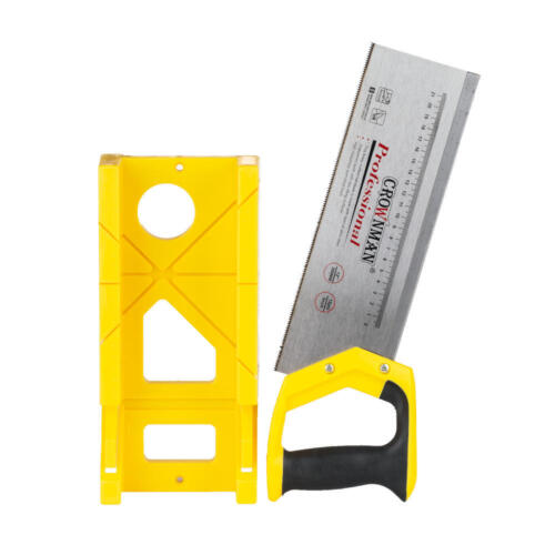 High Carbon Steel Mitre Box Saw Set Cuts for Skirting Boards Room Trim