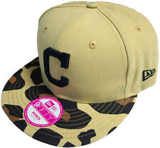 New Era Cleveland Indians Print Safari Snapback Cap Black 9fifty Basecap Women