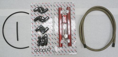 OBX Red Alumimun Fuel Rail Fit 1998 99 00 01 02 03 2004 Mustang Cobra 4.6L DOHC