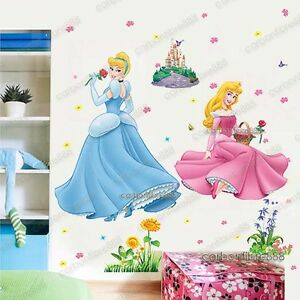 Image Is Loading X Large Disney Princess Wall Stickers Cinderella Aurora  Part 73